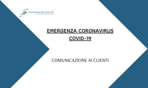 Emergenza Coronavirus – Comunicazione ai Clienti