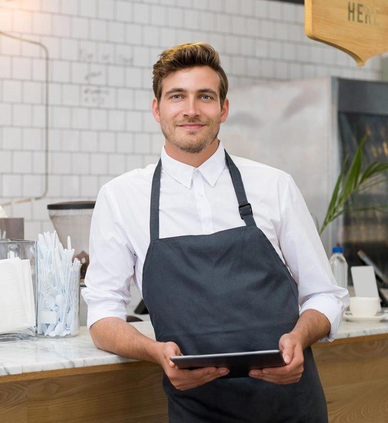 barista con tablet chemichal app