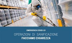 Emergenza Covid-19 – Operazioni di Sanificazione