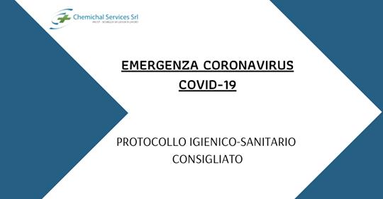 Emergenza Coronavirus (COVID-19) – Protocollo Igienico-Sanitario Consigliato