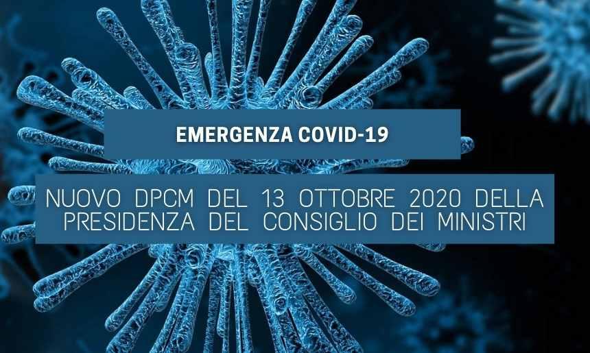 You are currently viewing Nuovo DPCM del 13 Ottobre della Presidenza del Consiglio dei Ministri
