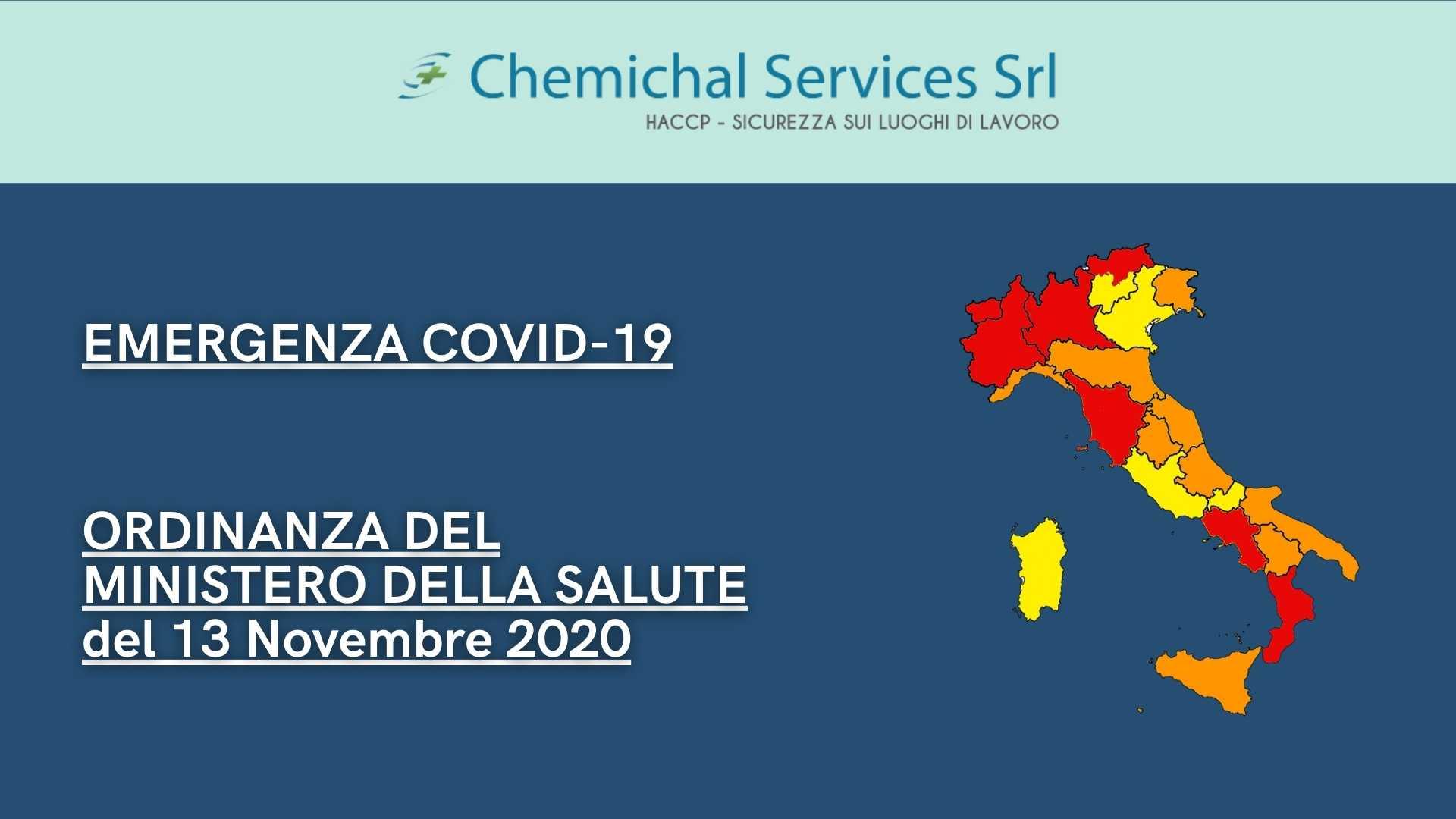 Emergenza COVID-19 | Ordinanza del Ministero della Salute