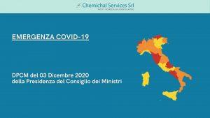 Emergenza COVID-19 | DPCM del 3 Dicembre 2020