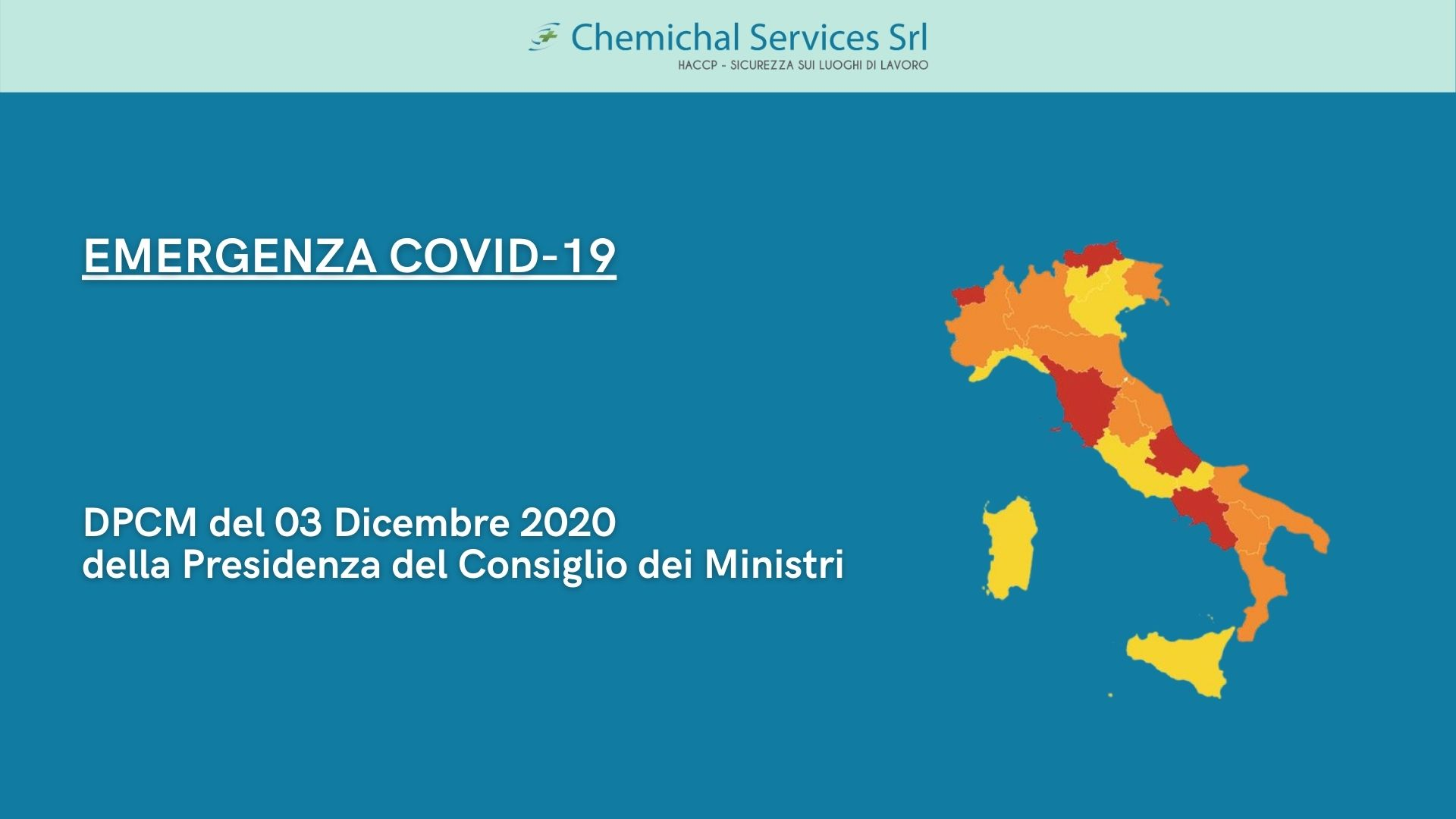 You are currently viewing Emergenza COVID-19 | DPCM del 3 Dicembre 2020