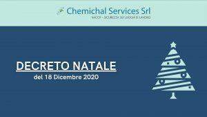 EMERGENZA COVID-19 | Decreto Natale del 18 Dicembre 2020