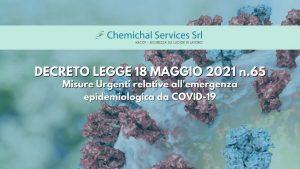 Read more about the article RIAPERTURE | DECRETO LEGGE 18 MAGGIO 2021 n.65